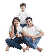 Portrait of a happy family Stock Photos