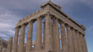 Stock Video Footage of Acropolis Parthenon sharp angle, wide shot