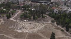 Stock Video Footage of acropolis ruins below medium shot