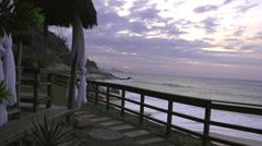 Stock footage Rio De Janerio -windy beach shot with silks Stock Footage