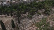 Stock Video Footage of acropolis ruins below, medium shot