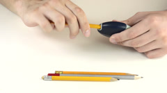 Manual pencil sharpener Stock Footage