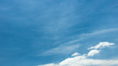 Sky And Thin Clouds - 3K Stock Footage