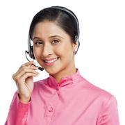 Portrait of a female customer service representative Stock Photos