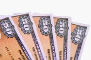 Stock Photo of savings bonds