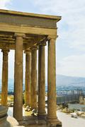 Colonnade of an ancient temple, The Erechtheum, Acropolis, Athens, Greece Stock Photos