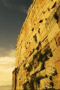 Low angle view of a wall, Theatre of Dionysus, Acropolis, Athens, Greece Stock Photos