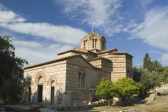 Ruins of an ancient church, Church of The Holy Apostles, The Ancient Agora, Stock Photos