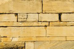 Close-up of an ancient stone wall, Athens, Greece - stock photo