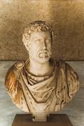 Bust in a museum, Stoa of Attalos, The Ancient Agora, Athens, Greece Stock Photos