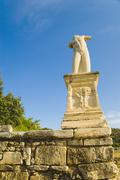 Low angle view of a headless statue, Odeon of Agrippa, The Ancient Agora, Stock Photos