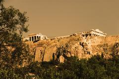 Ruins of a citadel, Acropolis, Athens, Greece Stock Photos