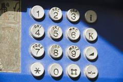 Key pad of a telephone, Athens, Greece Stock Photos
