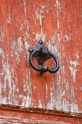 Close-up of a door knob, Athens, Greece - stock photo