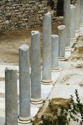 Columns in the courtyard, Roman Agora, Athens, Greece Stock Photos