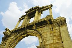Ruins of an archway, Hadrian's Arch, Athens, Greece - stock photo