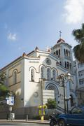 Low angle view of a church, Athens, Greece Stock Photos