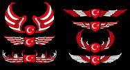 Stock Illustration of turkish red flag  vector art