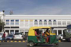 Stock Photo of Auto rickshaw on the road, New Delhi, India