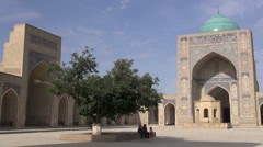 Beautiful Kalon mosque in Bukhara, Uzbekistan Stock Footage