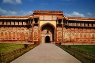 Stock Photo of Tourists at Agra Fort, Agra, Uttar Pradesh, India