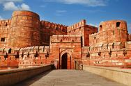 Stock Photo of Tourists at entrance to Agra Fort, Agra, Uttar Pradesh, India