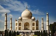 Stock Photo of Tourists at a mausoleum, Taj Mahal, Agra, Uttar Pradesh, India