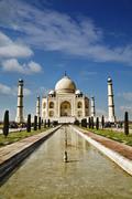 Tourists at a mausoleum, Taj Mahal, Agra, Uttar Pradesh, India - stock photo