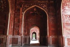 Archway of the Taj Mahal, Agra, Uttar Pradesh, India Stock Photos