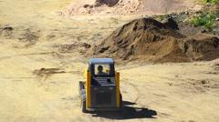 Bulldozer pushing sand - stock video Stock Footage