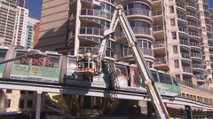 Monorail Rescue in Sydney PT2 Stock Footage