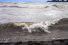 Stock Photo of Waves in the sea, Alibag, Raigad District, Konkan, Maharashtra, India