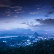 beautiful landscape in guilin - stock photo