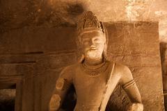 Stock Photo of Statue at Elephanta Caves, Maharashtra, India