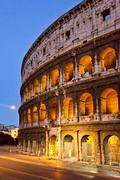 Ruins of an amphitheater, Coliseum, Lazio, Rome, Rome Province, Italy Stock Photos