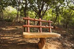 Bench in a park, Kambala Konda Eco Tourism Park (Majjisrinath), Visakhapatnam, Stock Photos