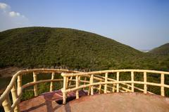 Watch tower in a park, Kambala Konda Eco Tourism Park (Majjisrinath), Stock Photos