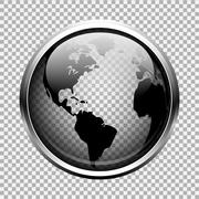 Clear glass globe Stock Illustration