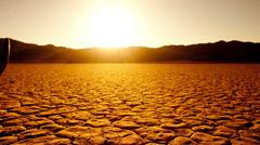 Pan of Skull on the Desert Floor - Death Valley  - 4K -  4096x2304 Stock Footage