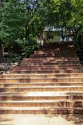 Low angle view of steps, Visakhapatnam, Andhra Pradesh, India Stock Photos