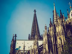 Stock Photo of retro look koeln dom
