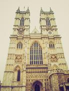 Stock Photo of vintage look westminster abbey