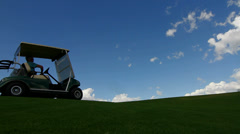 Golf Cart Driver Silhouette Stock Footage