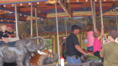 Merry go around 2 Stock Footage