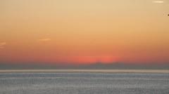 Mediterranean Sea at dawn Stock Footage
