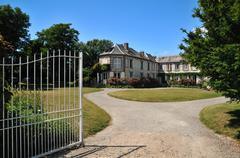 entrance to the villa - stock photo