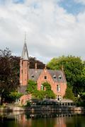 castle in bruges belgium - stock photo