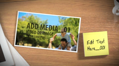 Photos with Sticky Note Description Stock After Effects