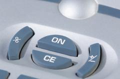 Close-up of buttons of a calculator Stock Photos