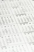 Close-up of a personal organizer calendar - stock photo